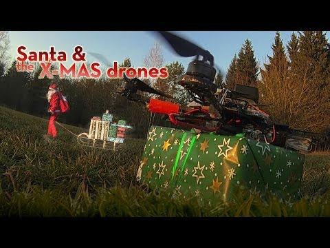 """Branchenführer Ascending Technologies aus Krailling stellte dem Weihnachtsmann die hochinnovativen Drohnen zur Verfügung. Unter anderem handelte es sich um den hochinnovativen Kopter namens """"AscTec Falcon 8""""."""