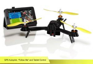 Dank GPS-System kann die Pocket Drone ihrem Besitzer folgen oder vordefinierte Wegpunkte abfliegen. Auf der passenden iOS- oder Android-App werden sogar Telemetriedaten angezeigt. Foto: airdroids.com