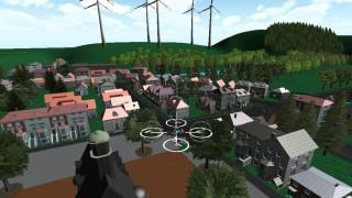 Burgstadt ist eine virtuelle 3D-Umgebung, die von Kasseler Universitätsinformatikern entwickelt wurde. Das idyllische Dörfchen ist bestens geeignet, Drohnen auf Feuerwehreinsätze vorzubereiten.