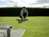 Verlegung auf dem Rasen