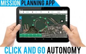 Autonome Flüge können auch per App definiert und per Knopfdruck absolviert werden. Foto: https://www.kickstarter.com/projects/urbandrones/splash-drone-a-waterproof-drone-with-autonomous-fe