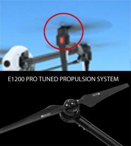 DJI Inspire 2 - E1200 Pro-Tuned Propulsion System