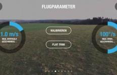 Die Kalibrierung des Quadrocopters bzw. Magnetometers wird auf Knopfdruck mit anschließenden Bewegungen vorgenommen.