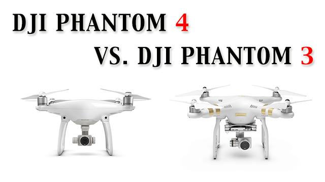 DJI Phantom 4 Vs 3 Professional Vergleich Und Unterschiede