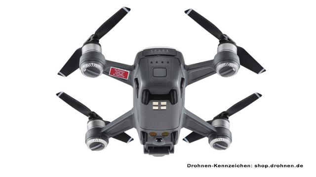 Montageort Für Das Anbringen Des Drohnen Kennzeichens Am Dji