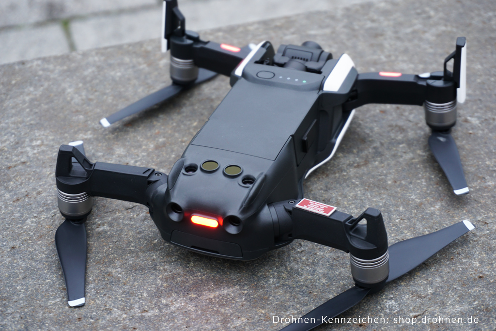 Montageort Für Drohnen Kennzeichen An Dem Dji Mavic Air