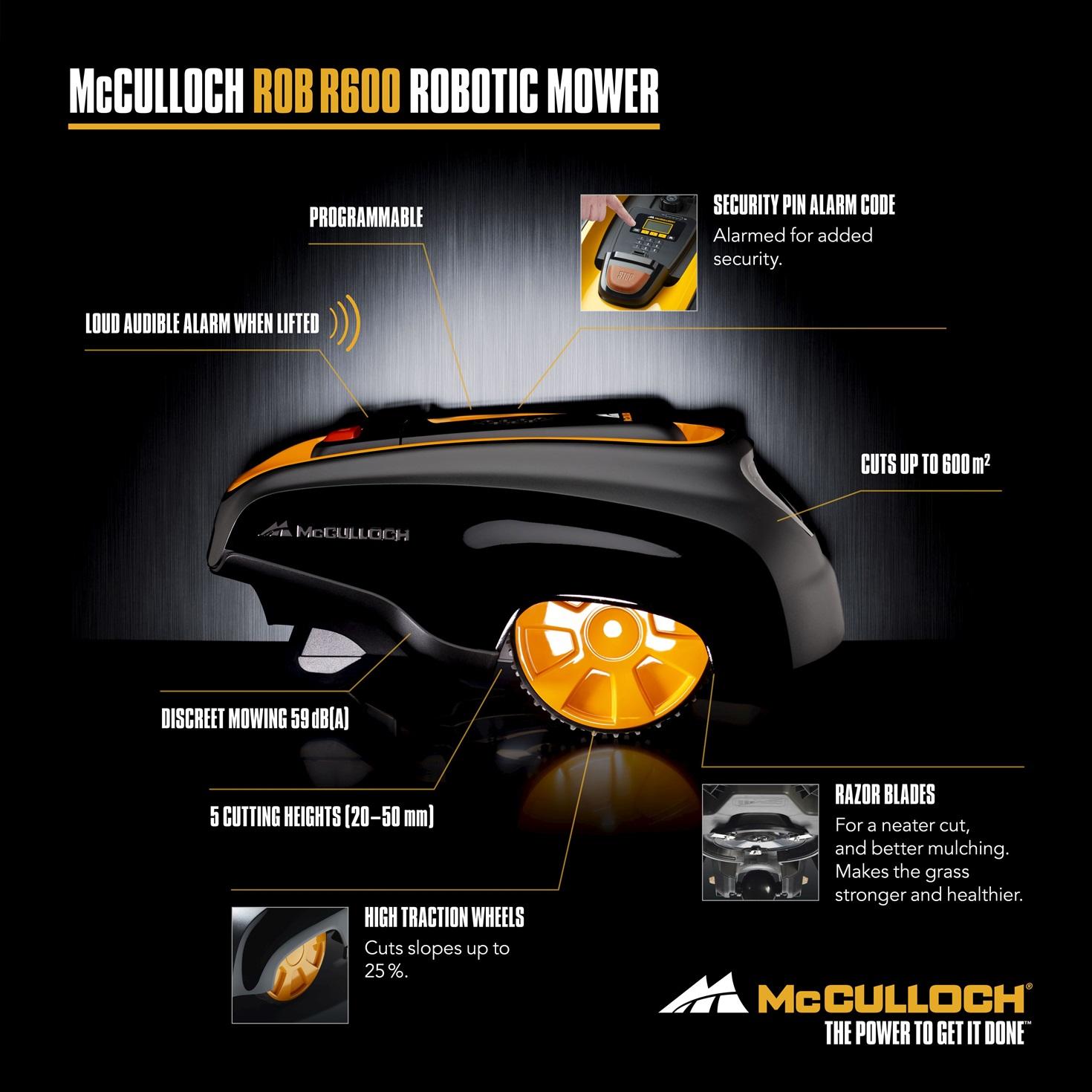McCulloch R600 Daten