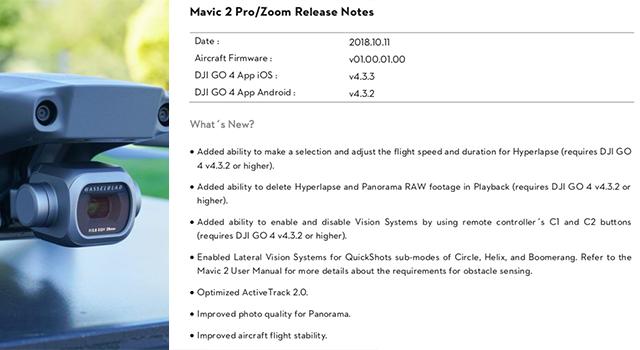 dji mavic pro 2 firmware update failure