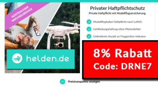 Haftpflicht Helden Code: Rabatt für Drohnenversicherung / Haftpflicht