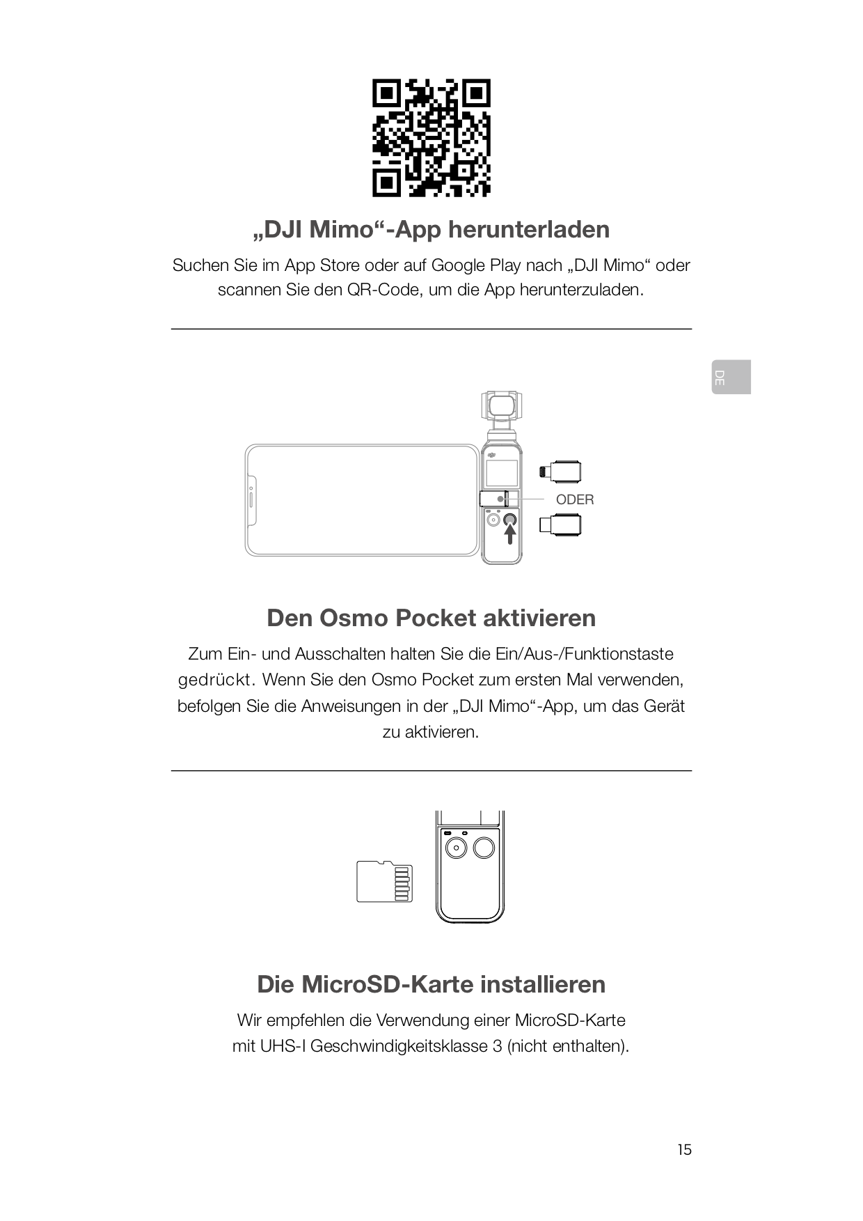DJI Osmo Pocket Mimo-App