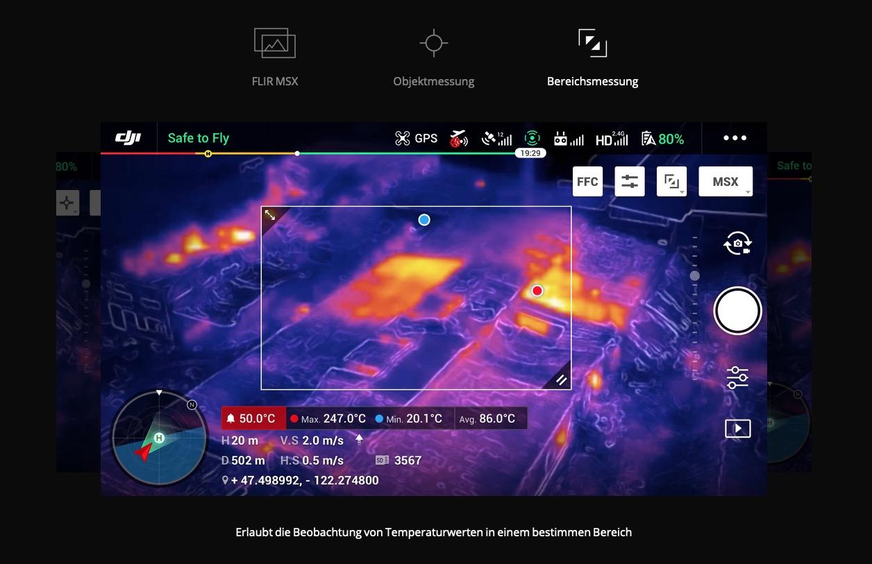 Bereichsmessung DJI Mavic 2 Enterprise Dual