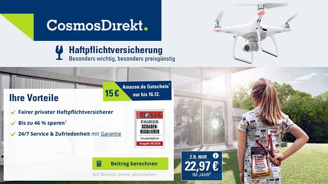 Cosmosdirekt Drohnenversicherung Haftpflicht Fur Drohnen