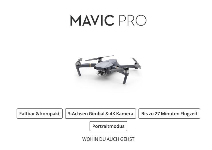 DJI Mavic Pro Platinum Angebot