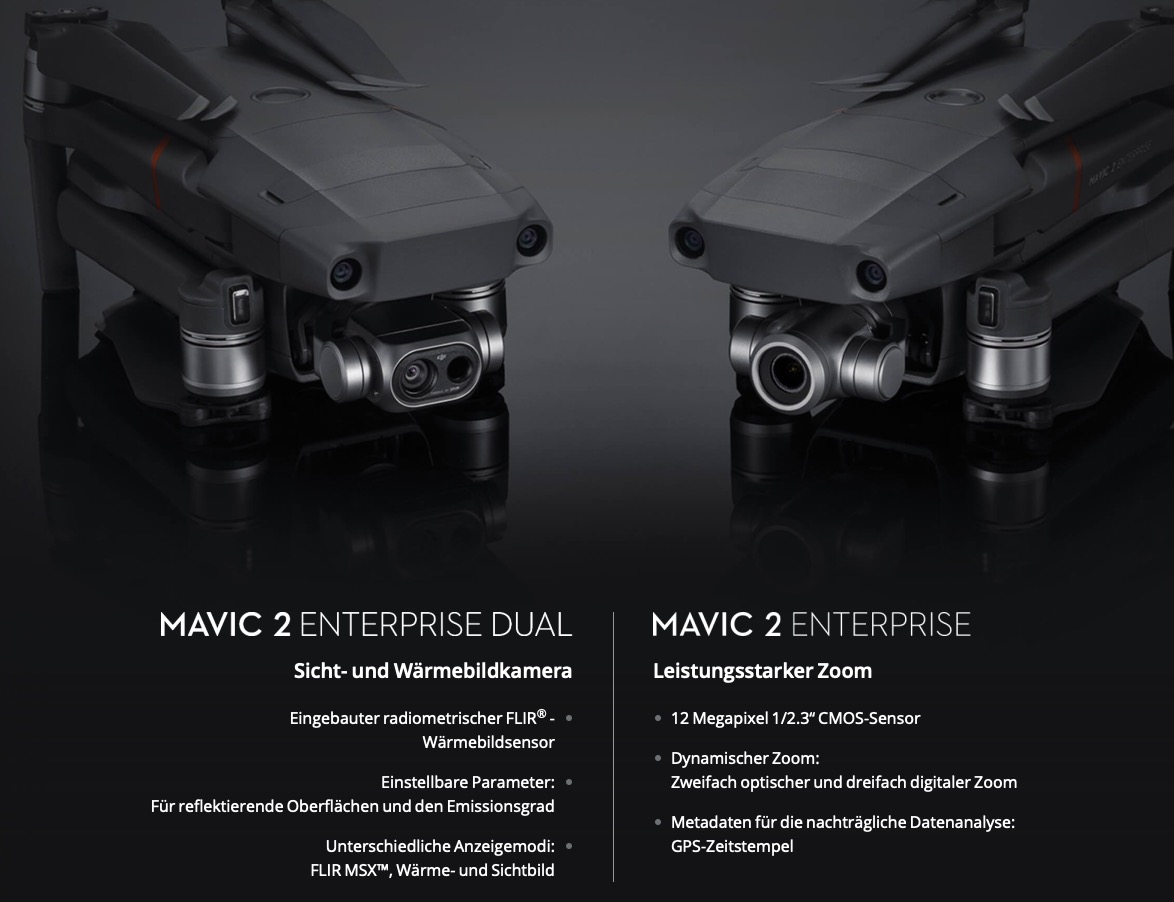 DJI Mavic 2 Enterprise Dual vs. DJI Mavic 2 Enterprise.