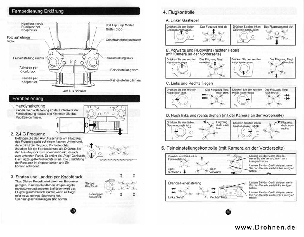 Drone X Pro - Eachine E58 - Anleitung deutsch - Seite 3