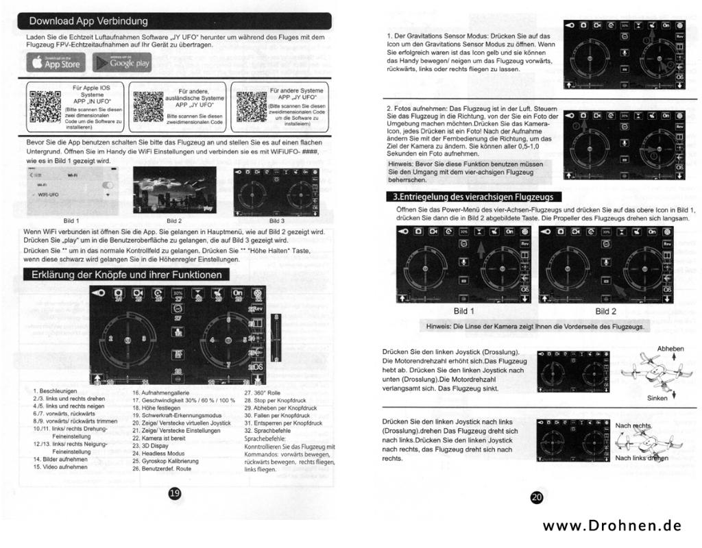 Drone X Pro - Eachine E58 - Anleitung deutsch - Seite 5