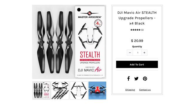 6615a9ad933 DJI Mavic Air: Upgrade Stealth Propeller von Master Airscrew