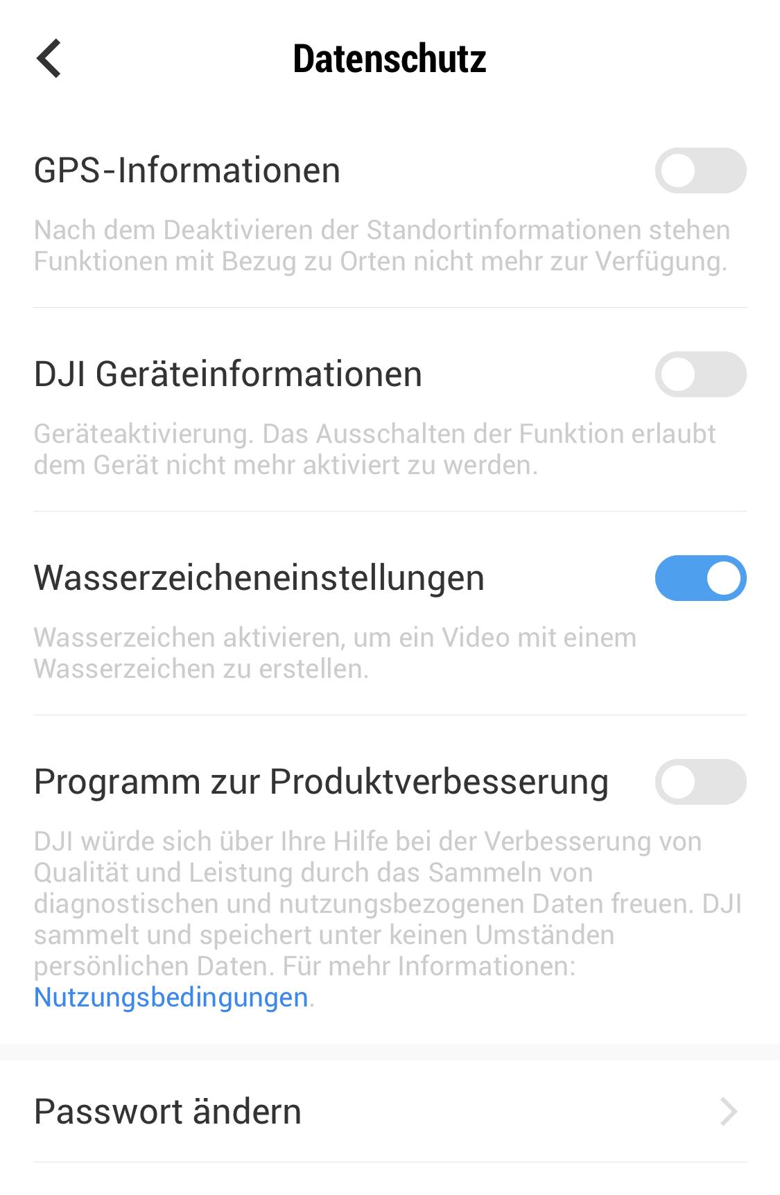 Wasserzeichen-Funktion des DJI Osmo Pocket.
