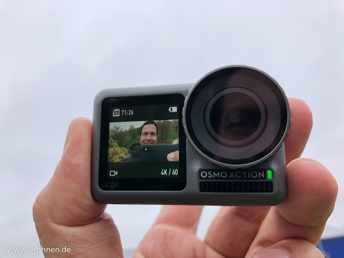 DJI Osmo Action Frontdisplay