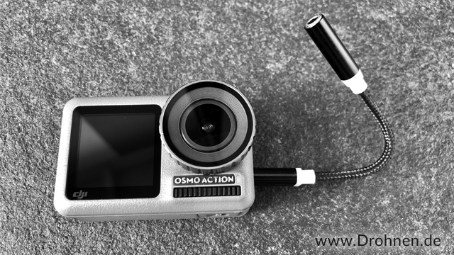 DJI Osmo Action external Microfon Adapter