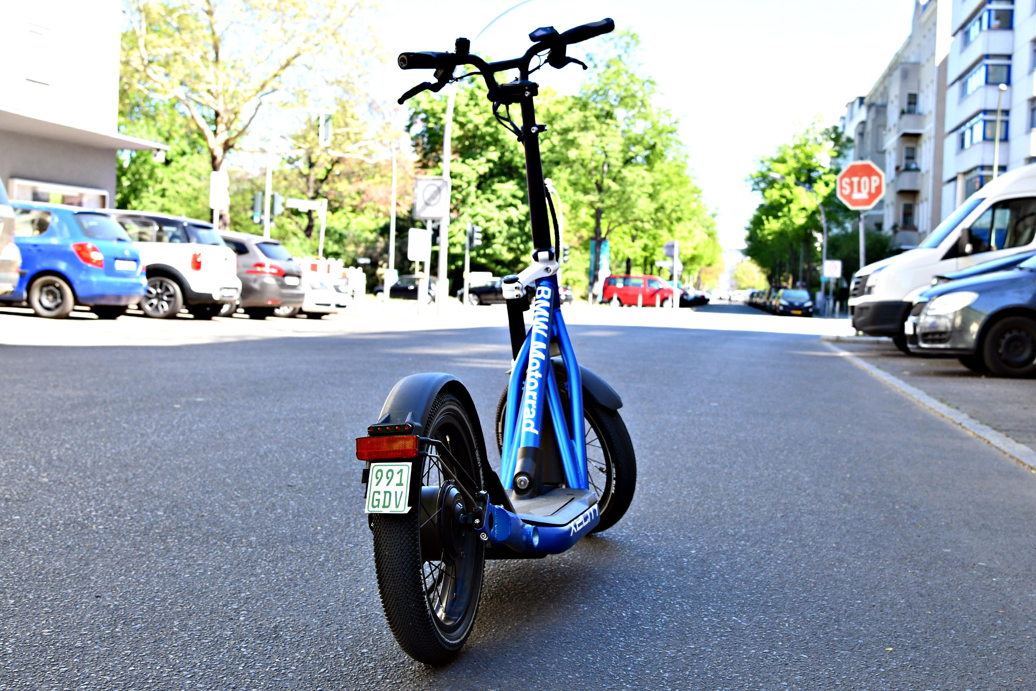 E-Scooter Plakette hinten