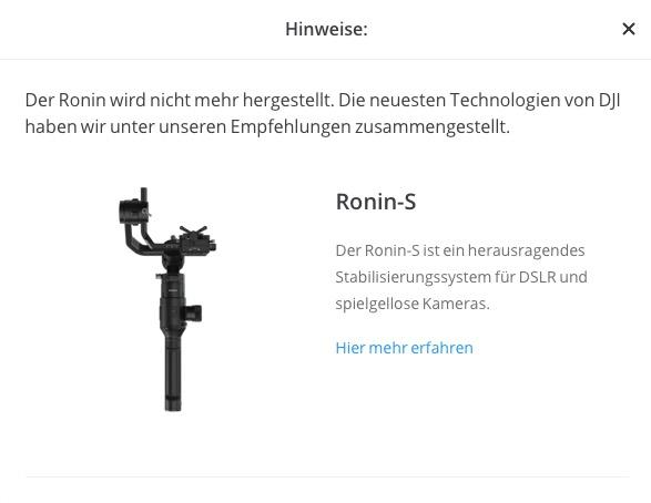 DJI Ronin-S ausverkauft