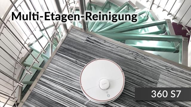Etagen Stockwerke Saugroboter 360 S7