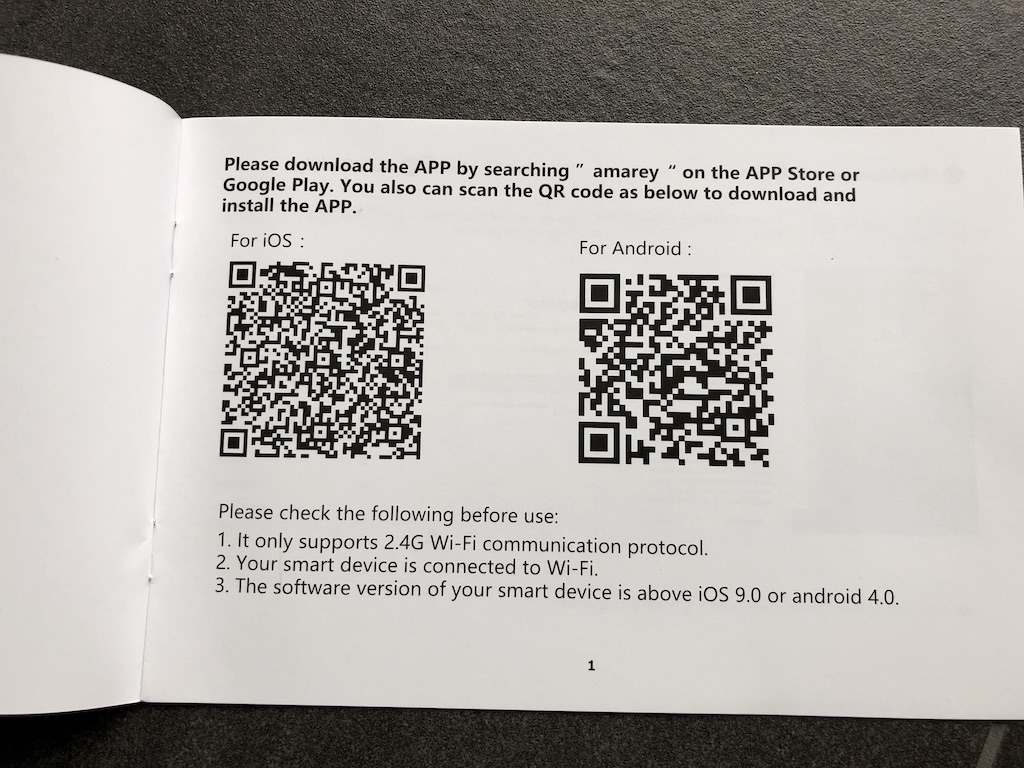 Amarey A900 App-Steuerung