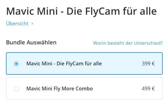 DJI Mavic Mini - Die Flycam für alle