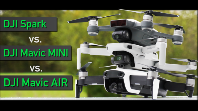DJI Mavic Mini Mavic Air DJI Spar Verglech