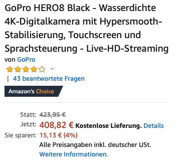 GoPro HERO 8 Black bei Amazon kaufen