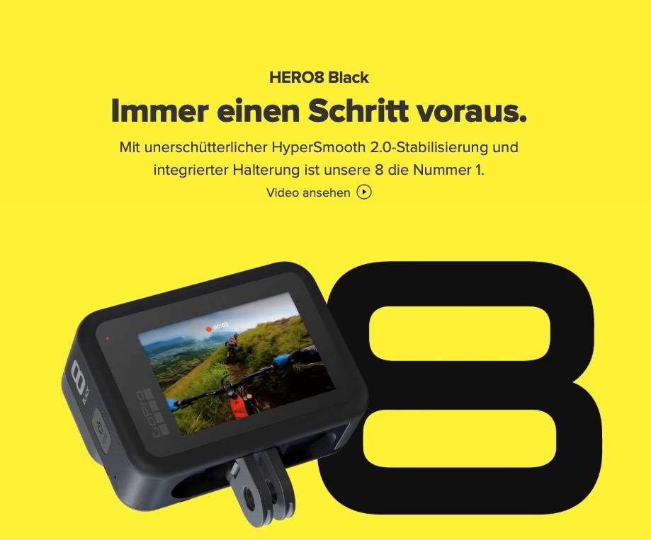 """GoPro HERO 8 Black """"Immer einen Schritt voraus"""""""