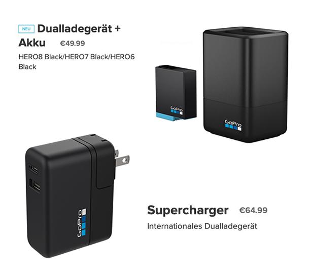 GoPro HERO 8 Dual-Ladegerät und Supercharger