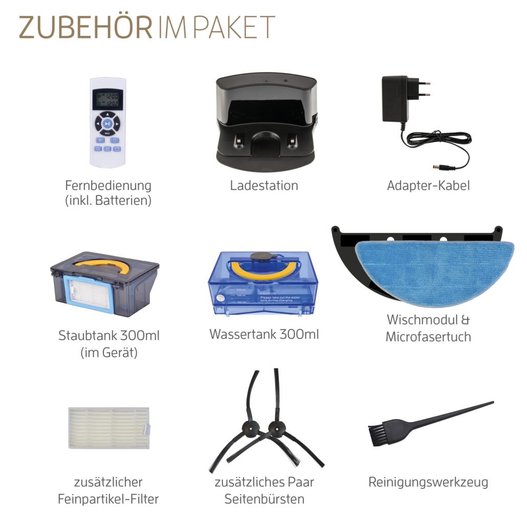 ZACO V5s Pro Lieferumfang