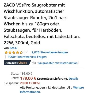 ZACO V9s Pro auf Amazon kaufen