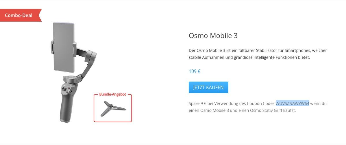 DJI Osmo Mobile 3 DJI Valentinstag-Aktion