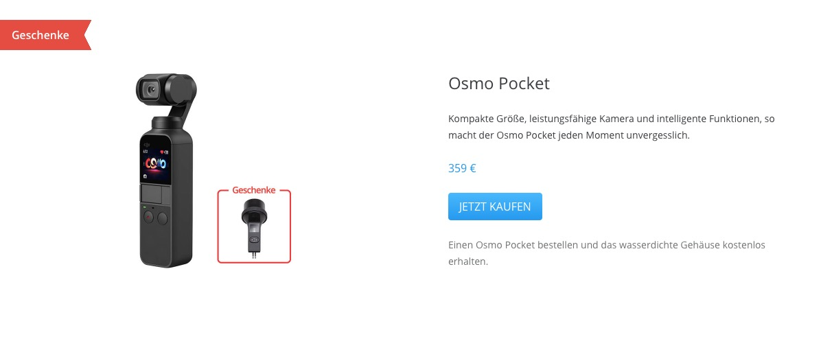 DJI Osmo Pocket DJI Valentinstag-Aktion
