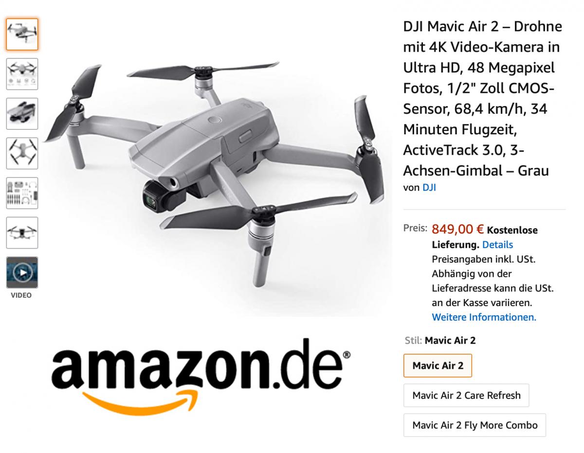 DJI Mavic Air 2 bei Amazon kaufen