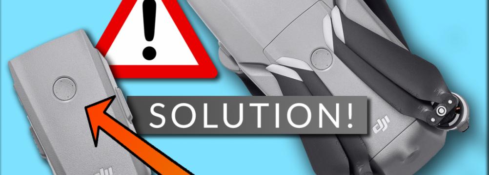 DJI Mavic Air 2 battery problem solution