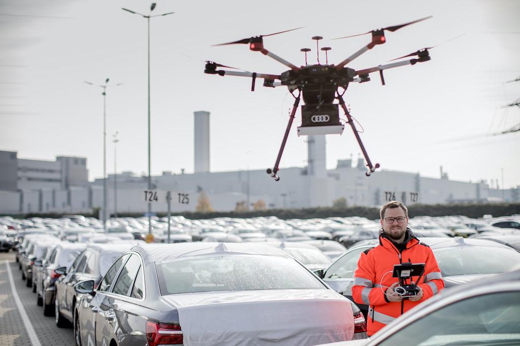 Audi setzt Drohnen in der Auto-Logistik ein