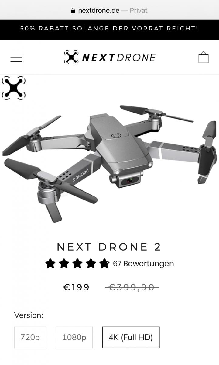 Next Drone 2 E68 Drohne angebot rabatt gutschein