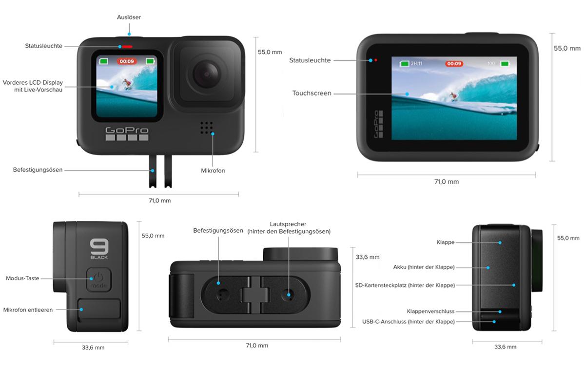 GoPro HERO 9 – Buttons und Schalter