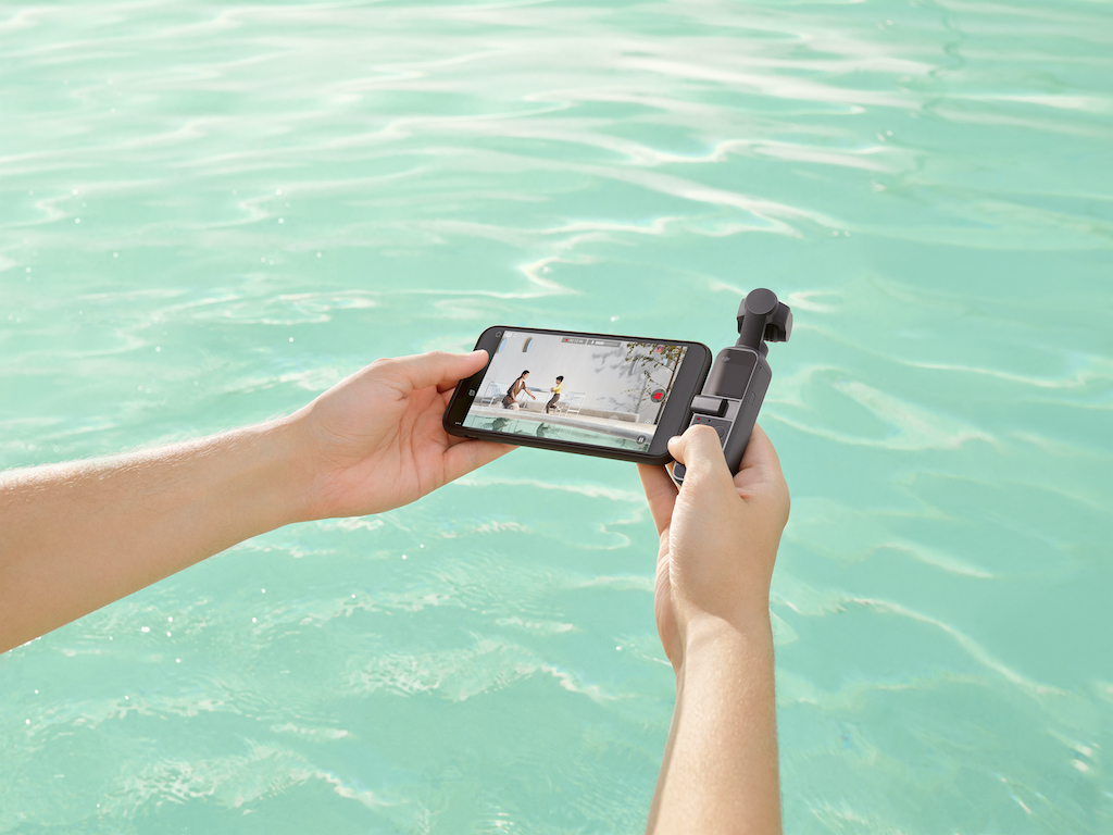 DJI Pocket 2 mit Smartphone