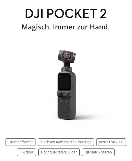 DJI Pocket 2 – Magisch. Immer zur Hand.
