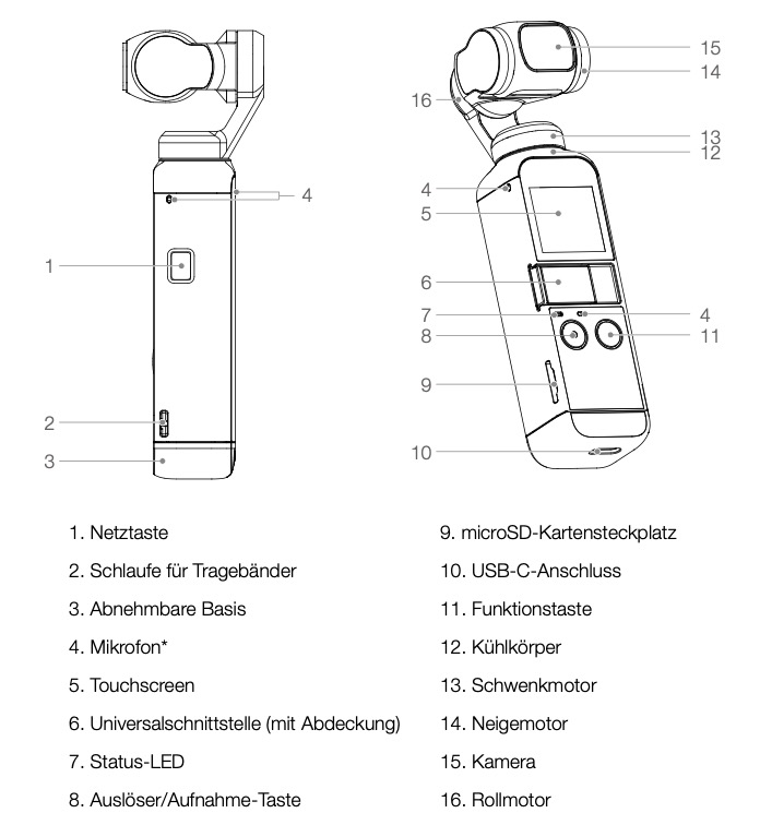 DJI Pocket 2 (OP2): Bedienungsanleitung