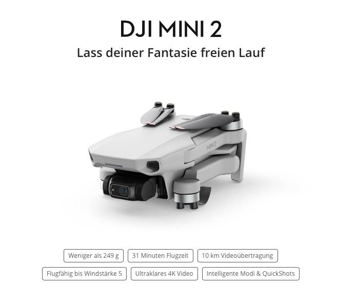 DJI Mini 2 zu Weihnachten 2020