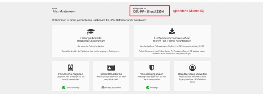 Fernpiloten-ID (eID) bei LBA Registrierung als Drohnen-Pilot