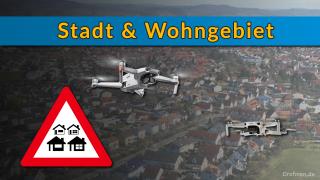 Drohnen Stadt Wohngebiet