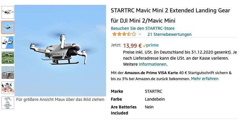 Landing Gear für DJI Mini 2 von StartRC