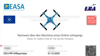 EU Kompetenznachweis A1 / A3 - Fernpiloten